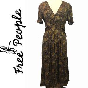 FREE PEOPLE  Gypsy Boho Hippie Maxi Dress Medium
